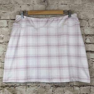 Under Armour White Pink Skort Skirt Medium Loose